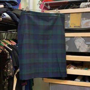 NWT J. Crew blackwatch plaid pencil skirt